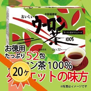 ウーロン茶 100% ダイエット ダイエットティー スリム ウーロン 茶  昭和 52包入り 20ケース 送料無料|showa-direct