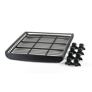 LLサイズフット付き ブラック A-x(エークロス)シリーズ アルミ製ルーフラック|showa-garage