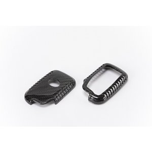 レクサス用リアルカーボン スマートキーケース Aタイプ クリア   LS、GS、IS、LC、RC、CT、LX、RX、NX、HCなどに|showa-garage