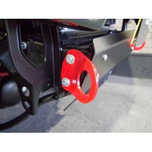 フロントけん引フック ステンレス  ジムニー JB23、JB33、JB43用 タニグチ製|showa-garage