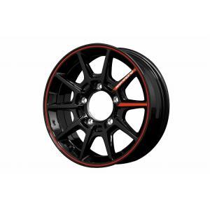 RMP RACING R25 ブラック/リムレッドライン 4本セット ジムニーJB23、JB33、JB43、JB64、JB74など用|showa-garage