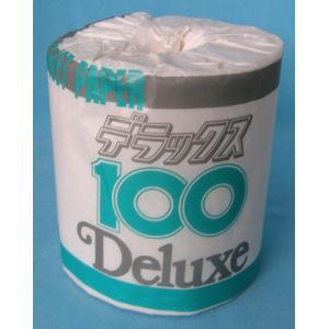 トイレットペーパー 2倍巻 100M シングル 個包装【デラックス100】 100M巻 シングル 業務用 1ケース100個入り|showa-shokai