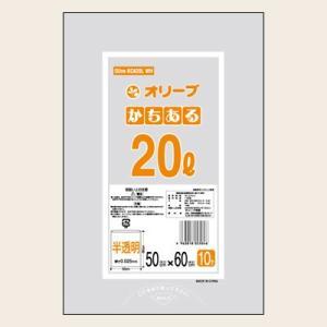 20Lゴミ袋 業務用 安い 【0.025mm厚 20L (半透明)】500x600cm  10枚入りx60冊 |showa-shokai