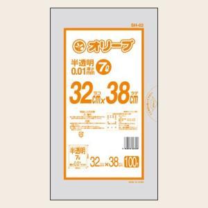 7Lゴミ袋 業務用 安い 【0.01mm厚 7L (半透明 )】320x380cm  100枚入りx50冊|showa-shokai