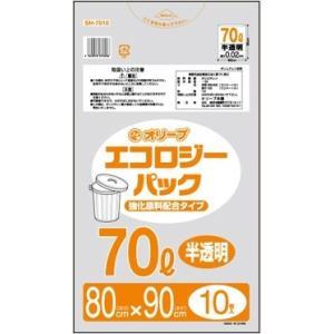 70Lゴミ袋   業務用 安い 【0.02mm厚 70L (半透明)】800x900cm  10枚入りx50冊|showa-shokai
