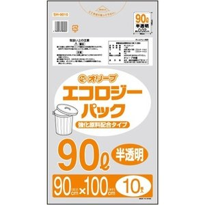 90Lゴミ袋  業務用 安い 【0.02mm厚 90L (半透明)】900x1000cm  10枚入りx50冊 |showa-shokai