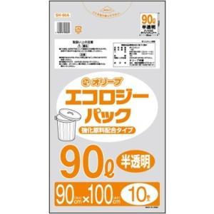 90Lゴミ袋   業務用 安い 【0.025mm厚 90L (半透明)】900x1000cm  10枚入りx40冊 |showa-shokai