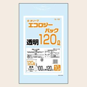 120Lゴミ袋  特厚  業務用 安い 【0.05mm厚 120L (透明)】1000x1200cm  10枚入りx15冊|showa-shokai