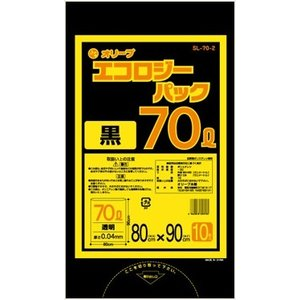 70Lゴミ袋   業務用 安い 【0.04mm厚 70L (黒)】800x900cm  10枚入りx30冊|showa-shokai