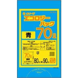 70Lゴミ袋   業務用 安い 【0.04mm厚 70L (青)】800x900cm  10枚入りx30冊|showa-shokai