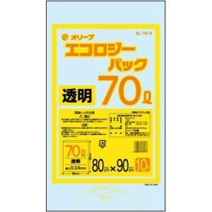 70Lゴミ袋   業務用 安い 【0.04mm厚 70L (透明)】800x900cm  10枚入りx30冊|showa-shokai