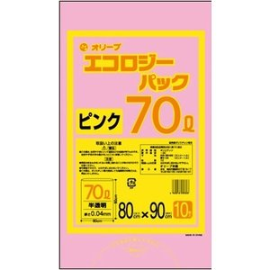 70Lゴミ袋   業務用 安い 【0.04mm厚 70L (ピンク)】800x900cm  10枚入りx30冊|showa-shokai