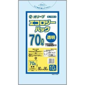 70Lゴミ袋   業務用 安い 【0.035mm厚 70L (透明)】800x900cm  10枚入りx30冊|showa-shokai