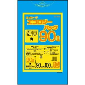 90Lゴミ袋  特厚  業務用 安い 【0.05mm厚 90L (青)】900x1000cm  10枚入りx20冊|showa-shokai