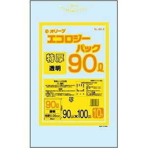 90Lゴミ袋  特厚  業務用 安い 【0.05mm厚 90L (透明)】900x1000cm  10枚入りx20冊|showa-shokai