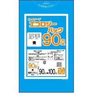 90Lゴミ袋   業務用 安い 【0.04mm厚 90L (青)】900x1000cm  10枚入りx30冊|showa-shokai