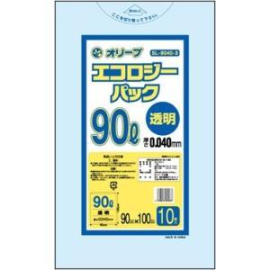 90Lゴミ袋   業務用 安い 【0.04mm厚 90L (透明)】900x1000cm  10枚入...