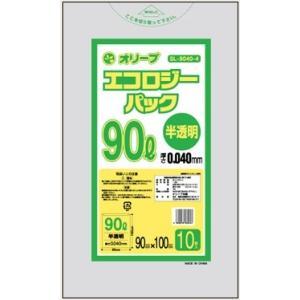 90Lゴミ袋   業務用 安い 【0.04mm厚 90L (半透明)】900x1000cm  10枚入りx30冊 |showa-shokai
