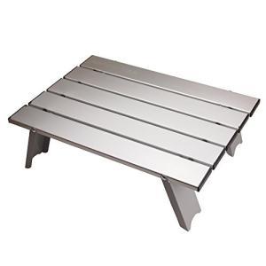 アウトドアテーブル(アルミロールテーブル / 折りたたみ式 )  耐荷重: 30kg / 本体重量:...