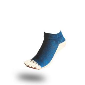 大人用はだし靴下‐スタンダード 5フィンガー (ブルーミックス)|showameriyasu