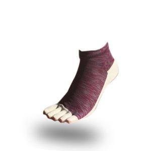 大人用はだし靴下‐スタンダード 5フィンガー (ワインミックス)|showameriyasu