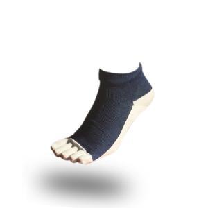 大人用はだし靴下‐スタンダード 5フィンガー (デニム)|showameriyasu
