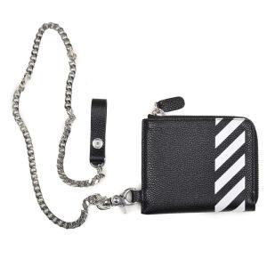 cff8dad11d05 OFF-WHITE オフホワイト ジップチェーンウォレットミニ 財布 イタリア正規品 新品 OMNC013S19C440321001