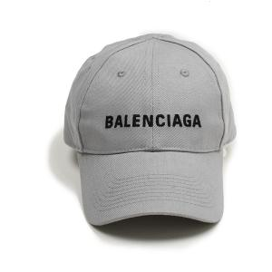 BALENCIAGA バレンシアガ メンズ グレーロゴキャップ 帽子 イタリア正規品 新品 5907...