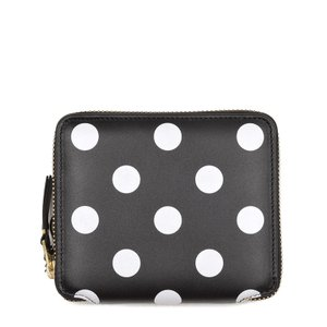 COMME des GARCONS コムデギャルソン POLKA DOTS ブラック財布(小銭入れ付) SA2100PD イタリア正規品 新品