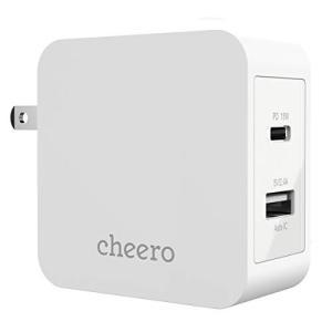 cheero 2 port PD Charger USB-C PD 18W  USB-A 合計 30...