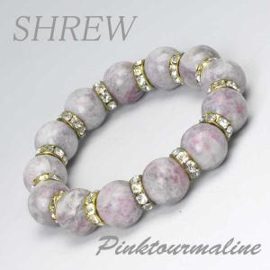 パワーストーン ブレスレット14mm ピンクトルマリン|shrew-y