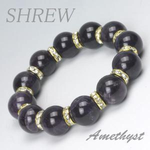 パワーストーン ブレスレット15mm アメジスト|shrew-y