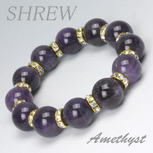 パワーストーン ブレスレット16mm アメジスト|shrew-y