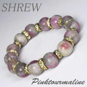 パワーストーン ブレスレット12mm ピンクトルマリン|shrew-y