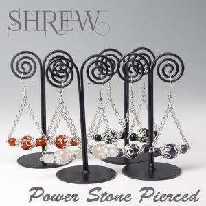 パワーストーン ピアス2 (カーネリアン、ローズクォーツ、オニキス、アメジスト)  shrew-y
