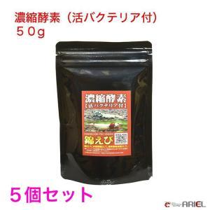 【今週のおすすめ】水槽リセットに! 濃縮酵素(活バクテリア付) 50g 5個セット shrimpariel