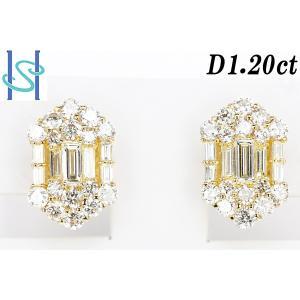 【SH190703-1-008】新品 K18 ダイヤモンド ピアス 1.20ct sht-ys