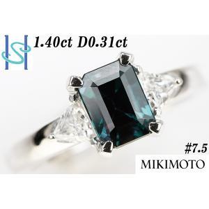 【SH39767】ミキモト Pt950 上質アレキサンドライト リング 1.40ct D0.31ct【中古】 sht-ys