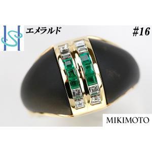 【SH42666】ミキモト K18 エメラルド リング【中古】 sht-ys