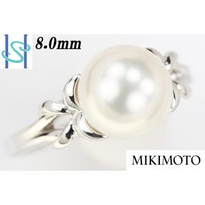 【SH43820】ミキモト プラチナ950 アコヤパール リング 8.0mm【中古】 sht-ys
