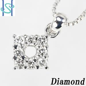 【SH44634】4℃ K18ホワイトゴールド ダイヤモンド ネックレス【中古】 sht-ys