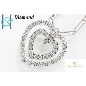 【SH44639】キメント K18ホワイトゴールド ダイヤモンド ネックレス【中古】 sht-ys