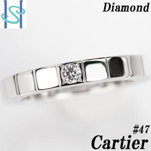 【SH50997】カルティエ ダイヤモンド リング K18ホワイトゴールド ラニエール 1P 7号 #47【中古】|sht-ys