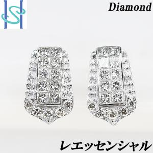 【SH51878】レエッセンシャル ダイヤモンド ピアス K18ホワイトゴールド【中古】|sht-ys
