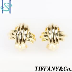 【SH53413】ティファニー イヤリング K18イエローゴールド シグネチャー Tiffany【中古】|sht-ys