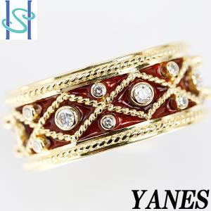【SH53623】ヤーネス ダイヤモンド リング K18イエローゴールド マルピカ【中古】|sht-ys
