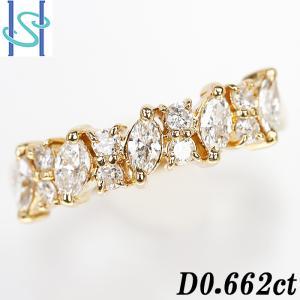 【SH53663】ダイヤモンド リング 0.662ct K18イエローゴールド【中古】|sht-ys