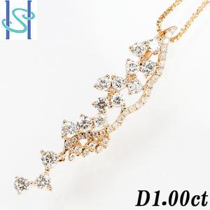 【SH54477】ダイヤモンド ネックレス 1.00ct K18ピンクゴールド【中古】|sht-ys