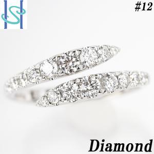【SH54552】ダイヤモンド リング K18ホワイトゴールド【中古】|sht-ys