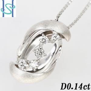 【SH54597】ダイヤモンド ネックレス 0.14ct K18ホワイトゴールド【中古】|sht-ys